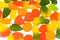 Candy jelly. With various shape and taste Royalty Free Stock Photos