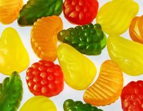 Candy jelly. With various shape and taste Royalty Free Stock Photography