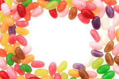 Candy jelly beans isolated Stock Photos