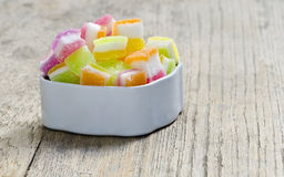 Candy jelly in white box Stock Photo