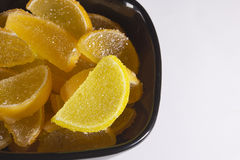 Candy jujube as lemon and orange slices Royalty Free Stock Image