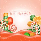 Candy land background. Illustration of Candy land background Royalty Free Stock Photography
