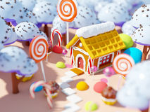 Candy land landscape Royalty Free Stock Photography