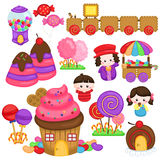 Candy land. A vector of a cute candyland Stock Images