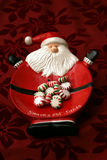 Candy left for santa. On a snacks for santa plate stock photography