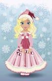 Candy little  santa claus girl, vector Stock Photography