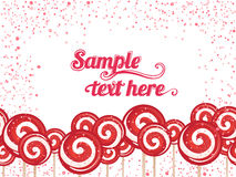 Candy lollipops background frame Stock Photography