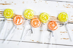Candy lollipops. Stock Photo