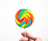 Candy lolly-pop. On white background Stock Photo