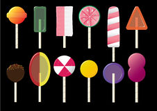 Candy lolly pops Stock Photos