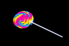 Candy lollypop. Isolated on black background Stock Photography