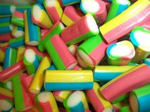 Candy, a lot of colorful sweets stock photo