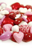 Candy of Love. Brightly colored valentine candies on a white background Royalty Free Stock Image