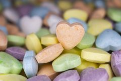 Candy, love hart colorful closeup with background royalty free stock photo
