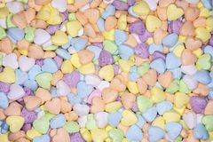 Candy, love hart colorful closeup with background stock photo