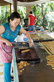 Candy makers. Picture of candy makers in Vietnam Royalty Free Stock Photo