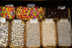 Candy in the market. In Barcelona Royalty Free Stock Photography