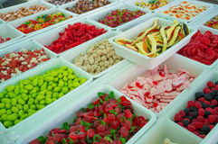 Candy on a market stall Royalty Free Stock Images