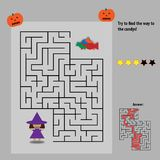 Candy maze for kids stock image