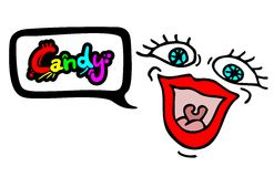 Candy message. Creative design of candy message Royalty Free Stock Photo