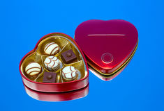 Candy, metal box Stock Photography