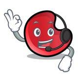 Candy moon mascot cartoon stock illustration