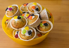 Candy muffins Stock Photo