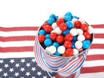 Candy on national flag Royalty Free Stock Image