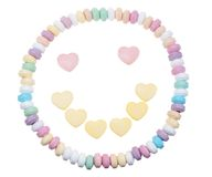 Candy necklace happy face Royalty Free Stock Photography