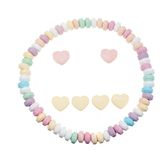 Candy necklace neutral face Royalty Free Stock Photos