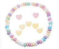 Candy necklace sad face Stock Photography