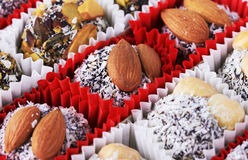 Candy with nuts Stock Images