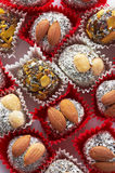 Candy with nuts Stock Image