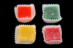 Candy Over Black Stock Photo