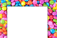 Candy with paper. Close-up of Colorful candy with paper Royalty Free Stock Photos