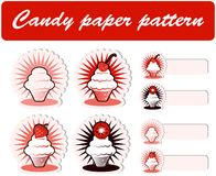 Candy Paper Pattern and Sickers Stock Photography