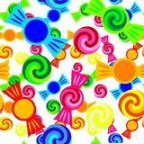 Candy pattern. Vivid seamless simple candy pattern Royalty Free Stock Photos