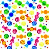 Candy pattern. Vivid seamless simple candy pattern Stock Photo