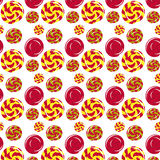 Candy pattern. Seamless pattern with candies on a white background Stock Image