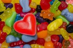 Candy per il biglietto di S. Valentino Immagine Stock Libera da Diritti