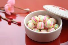 Candy per il festival del ` s della ragazza, dolci giapponesi Fotografie Stock Libere da Diritti