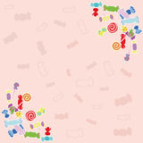 Candy pink background. Royalty Free Stock Photos