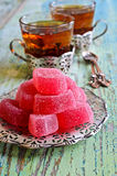 Candy pink jelly Royalty Free Stock Images