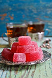 Candy pink jelly Stock Photos