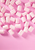 Candy pink marshmallow sweets pattern texture Stock Photo