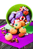 Candy and pumpkin souffle of a holiday Halloween Royalty Free Stock Photo