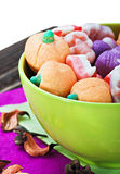 Candy and pumpkin souffle of a holiday Halloween Royalty Free Stock Photos