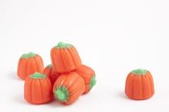 Candy Pumpkins. An arrangement of candy pumpkins Royalty Free Stock Photos