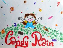 Candy rain. It's raining with candies, chocolate and other good stuff vector illustration
