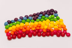 Candy rainbow. On white background royalty free stock photos